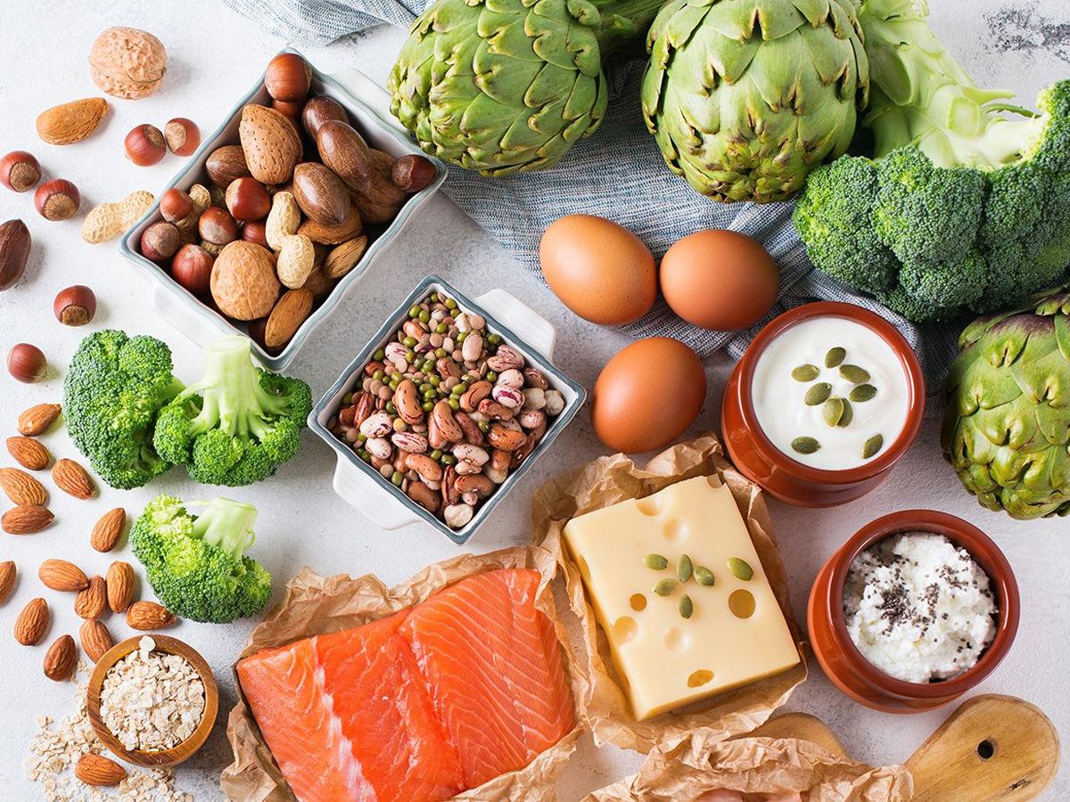healthy food on table