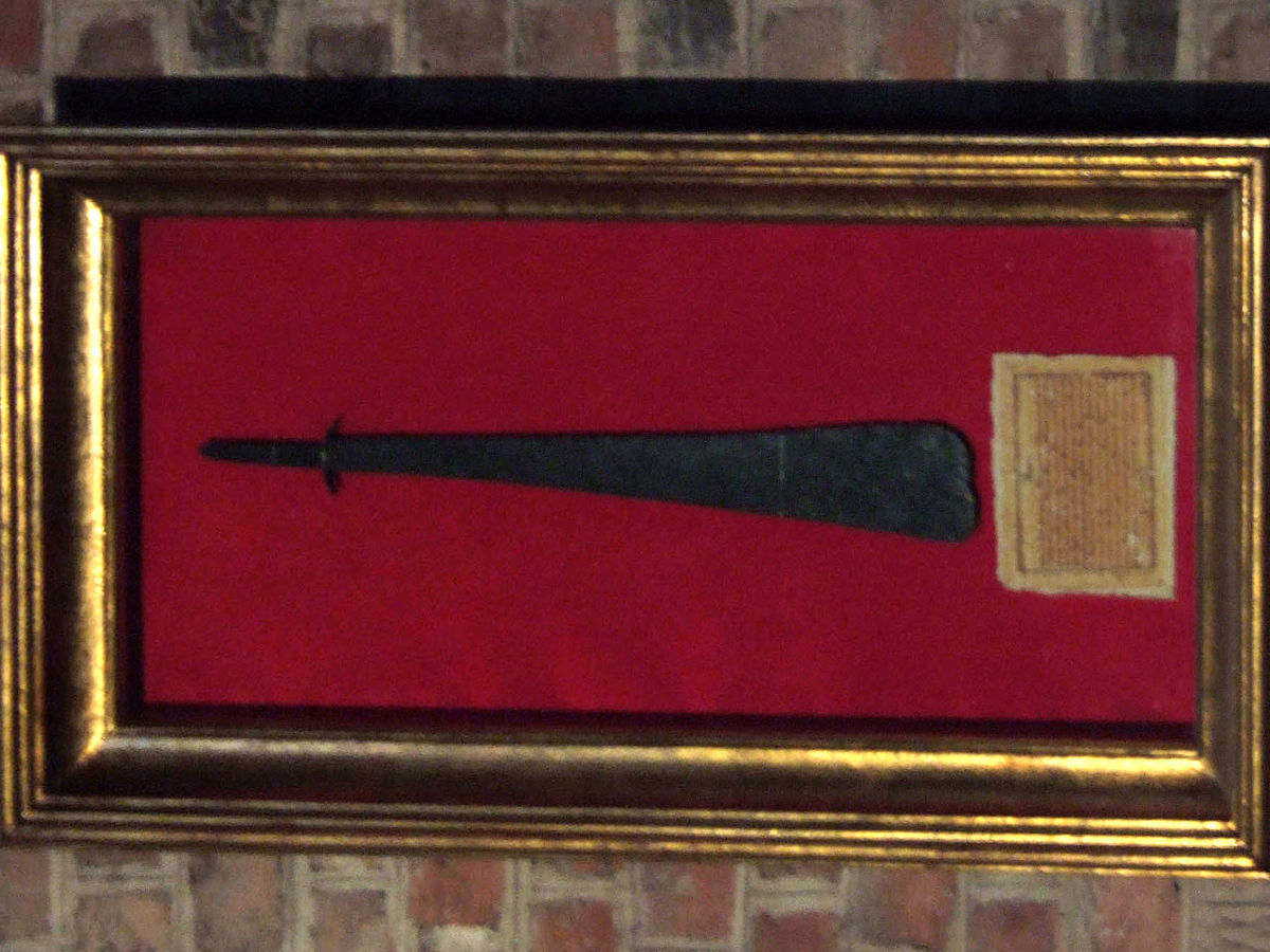 st peter's blade in display