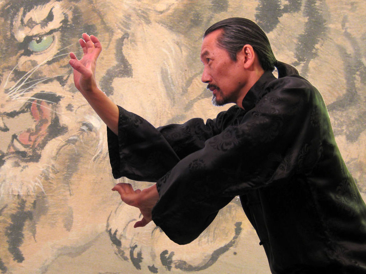 Shaolin master performing tiger style