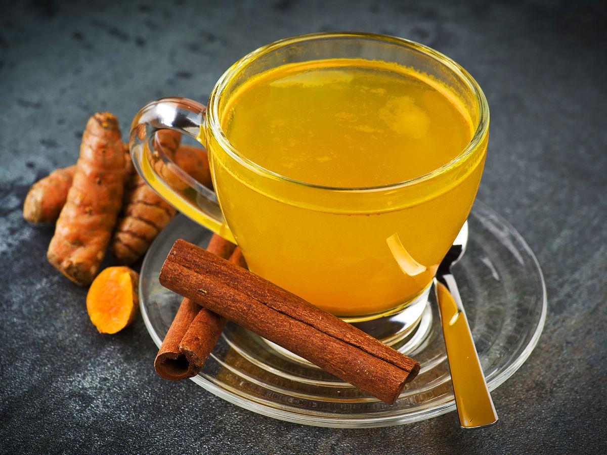 turmeric tea in cup