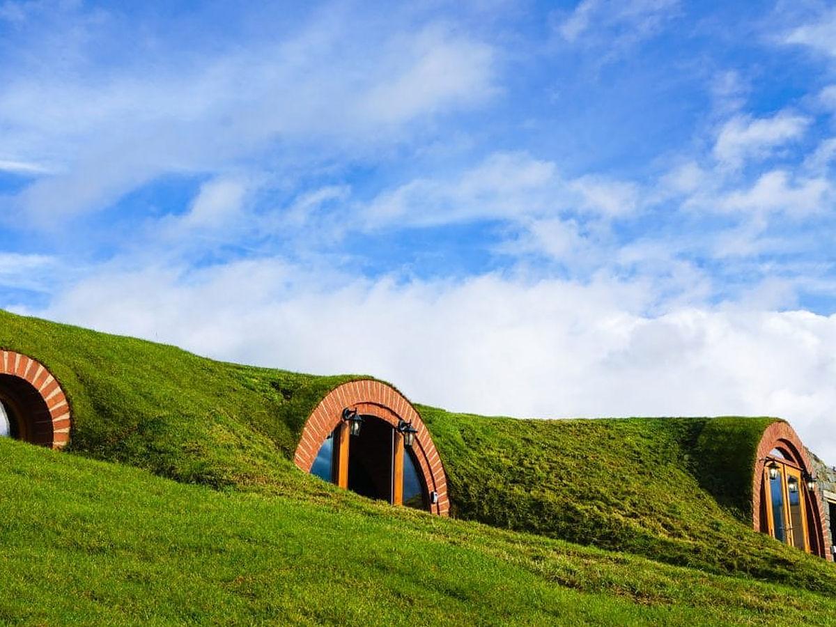 Strange houses like house of hobbit