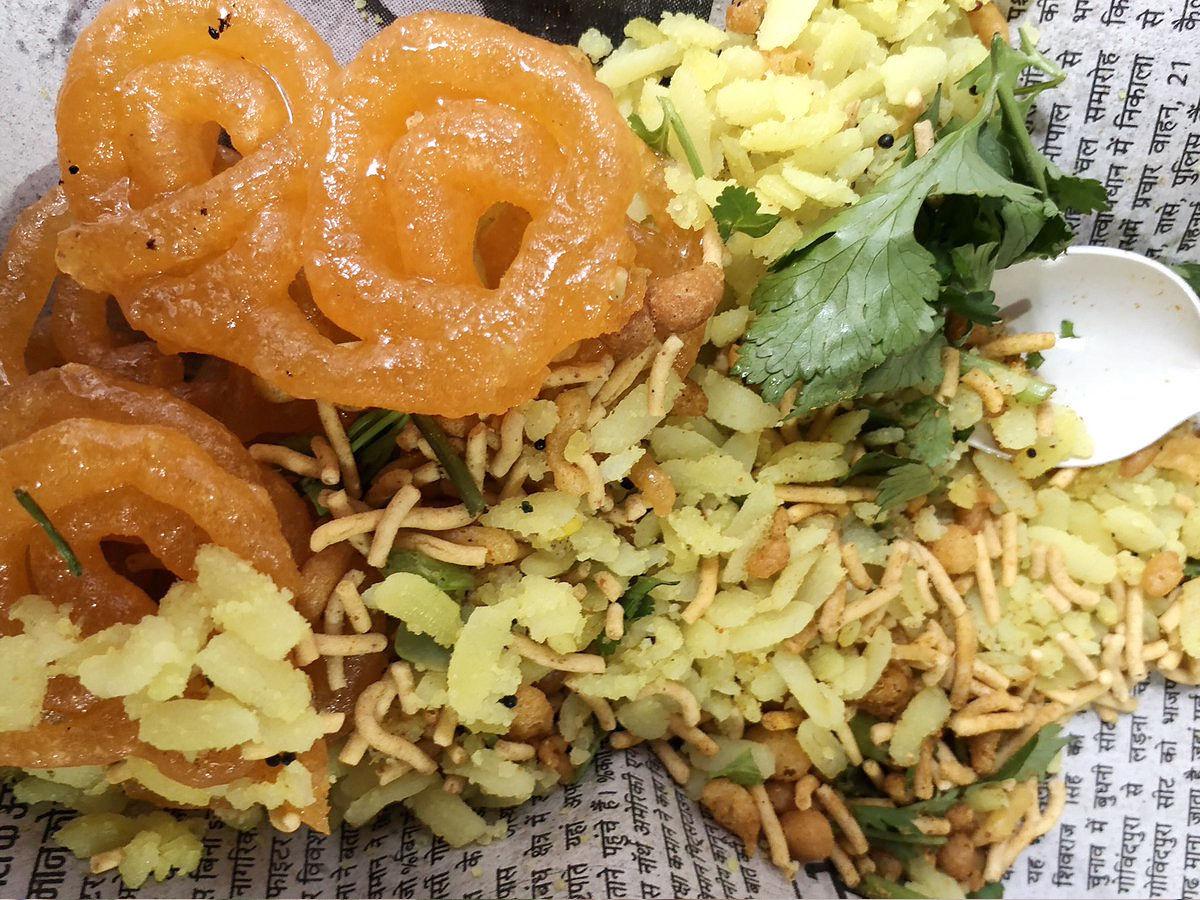 Poha- Jalebi staple food of MP
