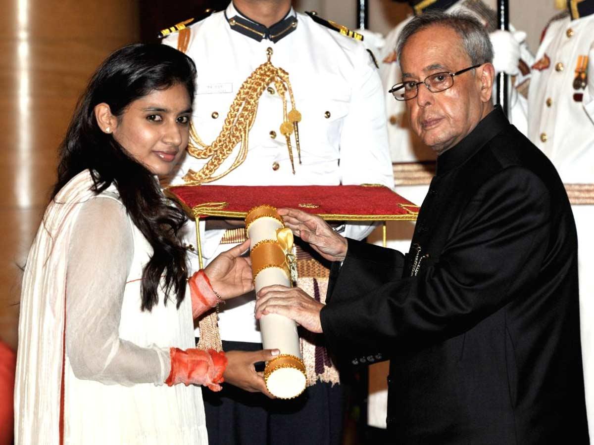 Mithali raj padma shri, mithali raj awards