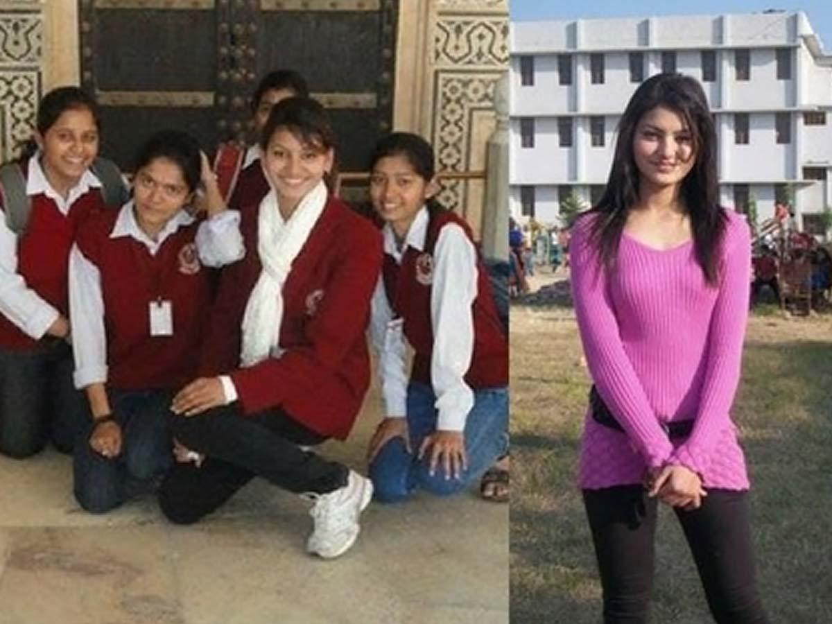 Urvashi Rautela in school