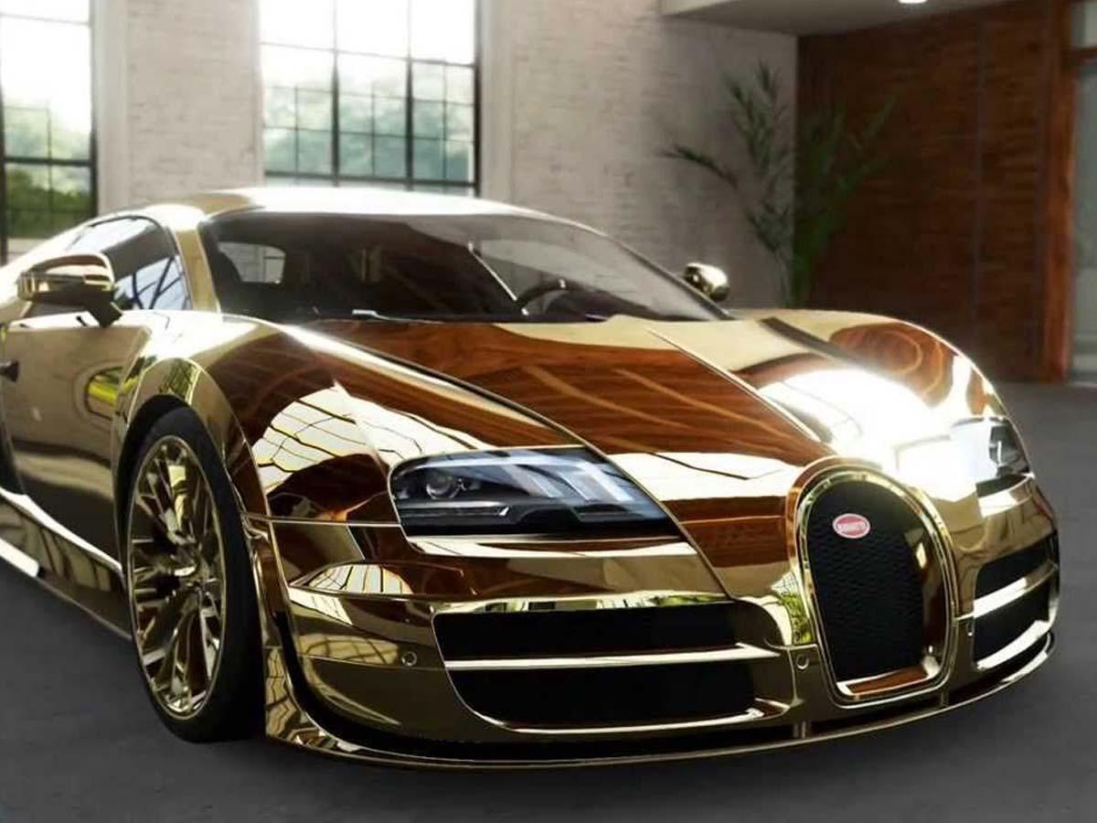 Buggati veyron gold