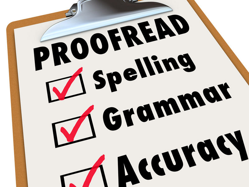 proofread and editing