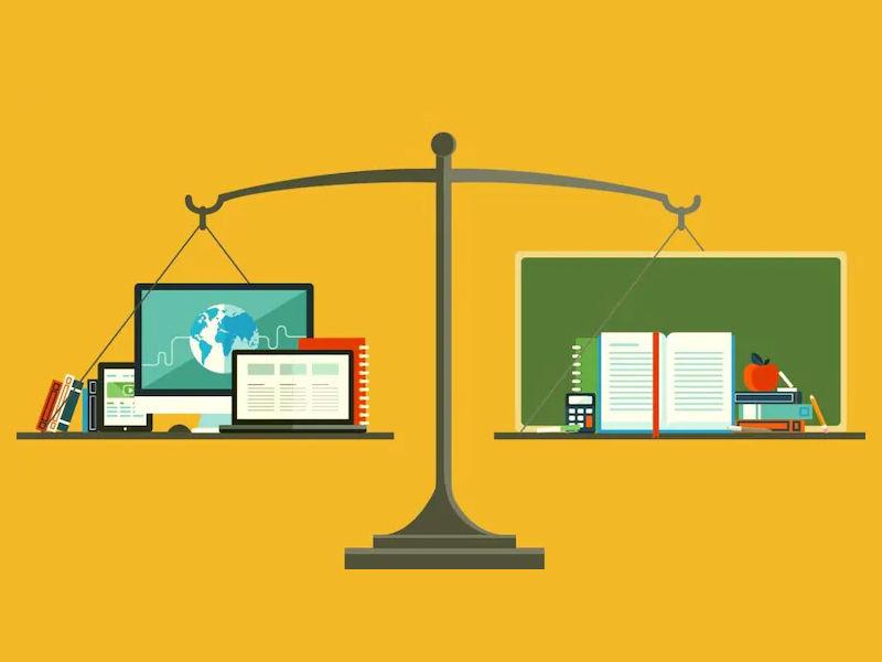 offline vs online education