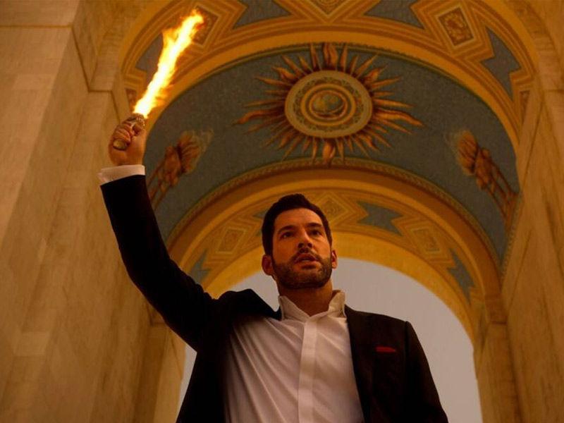 lucifer season 6, flaming sword