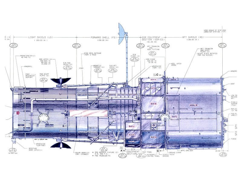 The Hubble Telescope blueprint