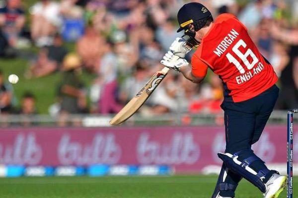 Morgan set the record for the fastest fifty for England