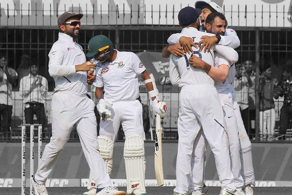 India beat Bangladesh by an innings and 130 runs, leading 1-0 in the series