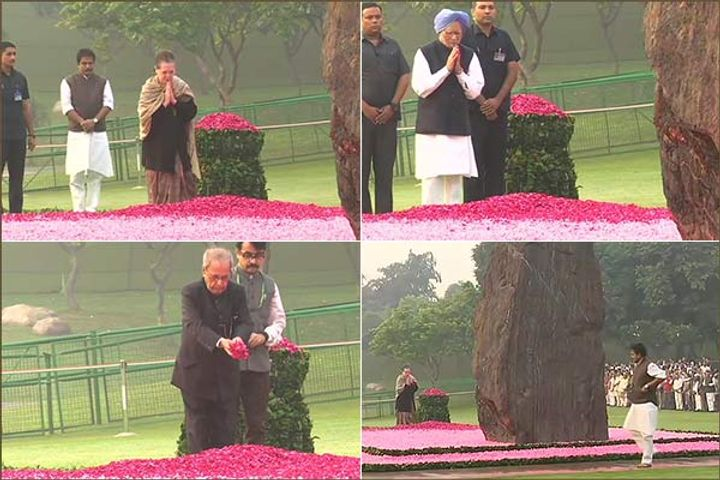 Indira's birth anniversary today, Prime Minister pays tribute