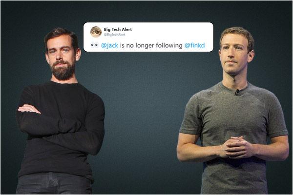 Twitter CEO Jack Dorsey unfollows Facebook CEO Zuckerberg