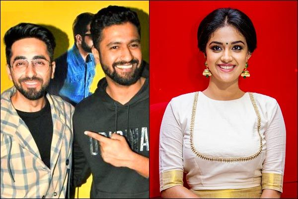 Best Actors is  Ayushmann and  Vicky Kaushal and best actress is Keerthy Suresh