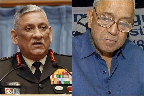 Bipin Rawat remarked against the nationwide protests over the new citizenship law