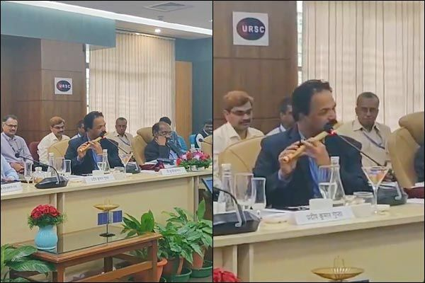 Parliamentary Committee meeting ends with ISRO official playing the flute