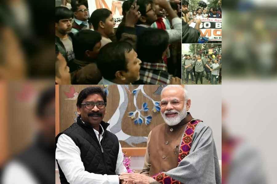 Opposing Modi  visit to Kolkata  Hemant Soren meets Modi in Delhi