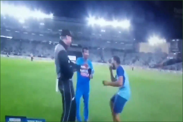 Rohit Sharma could not contain his laughter as Chahal was left speechless.