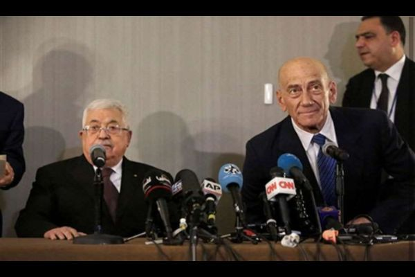 Olmert and Abbas meet in New York urge direct talks as Trump plan rejected