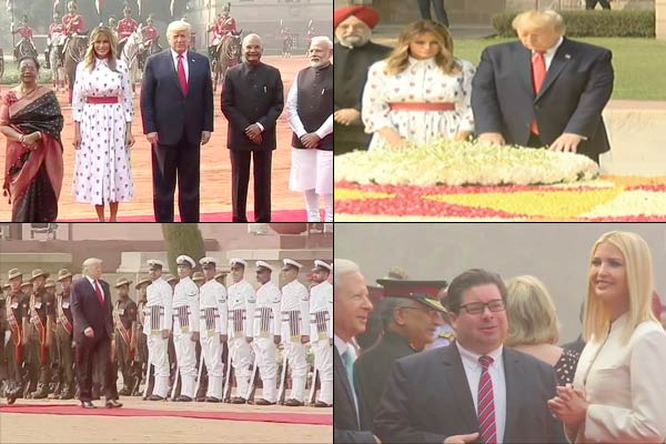 Trumps reach Rajghat to pay homage to Mahatma Gandhi