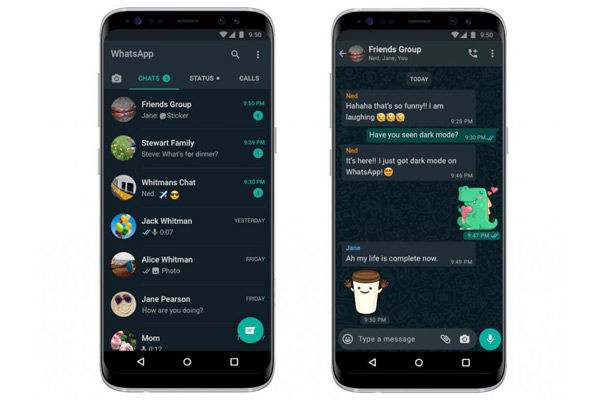 WhatsApp Dark Mode  feature release for Android and iOS users worldwide