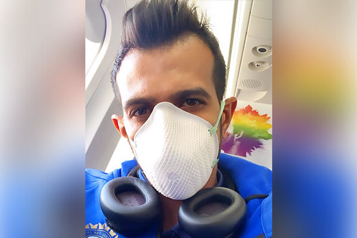 Yuzvendra Chahal posts photo with face mask enroute to Dharamsala for 1st ODI
