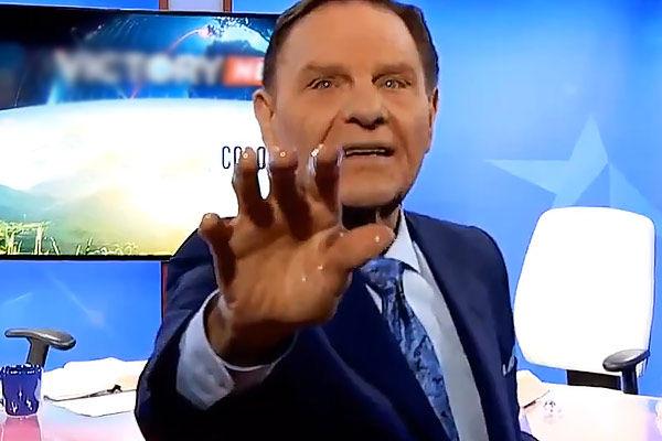 American televangelist tries to cure viewers of coronavirus from TV studio