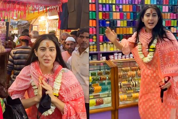 Entry of non-Hindus is prohibited Sara Ali Khan  visit to Varanasi temple erupt controversy