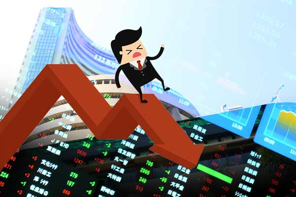 Sensex down 1238.43 points and Nifty at 8607.25 level