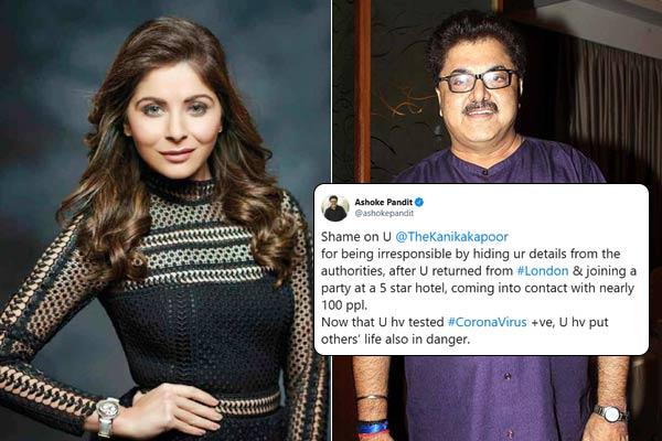 Ashoke Pandit Slammed Singer Kanika Kapoor For Being Irresponsible And Putting Other People At Risk