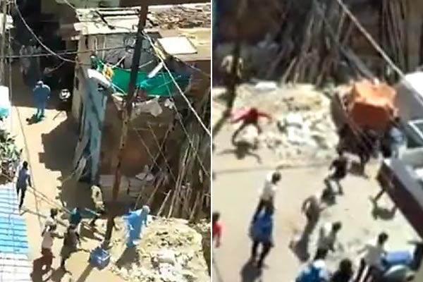 Locals pelt stones at health workers in Indore as they try to screen the residents