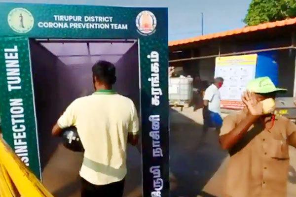 Tamil Nadu installs disinfection tunnel near market