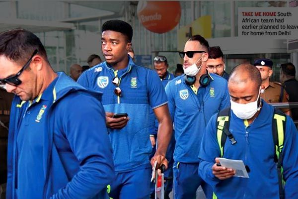 South Africa cricketers who traveled to India have no signs of coronavirus