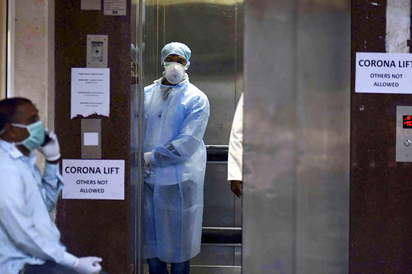 2547 infected in India so far and 84 deaths