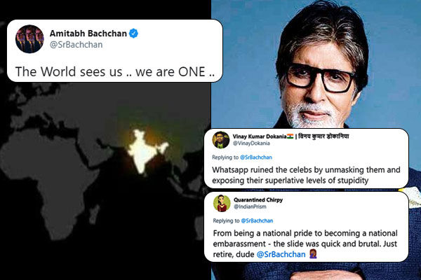 Amitabh Bachchan trolled for fake  9PM 9Minutes Indian satellite image