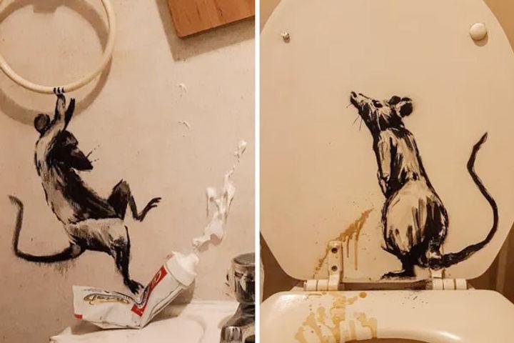 Banksy reveals pest problems in new artwork amid coronavirus lockdown