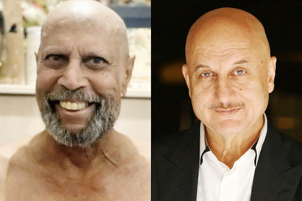 Kapil Dev shaved his hair then Anupam Kher pulled his leg like this