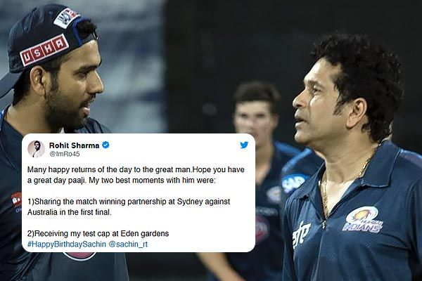 Rohit Sharma extends birthday wishes to Sachin Tendulkar also reveals his best two moments with him