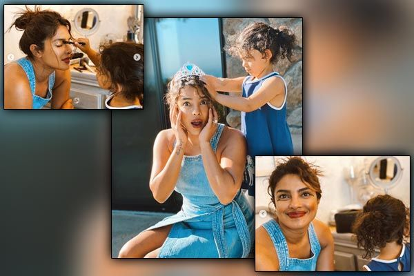 Priyanka Chopra turns pretty princess gets a makeover from her little in-house stylist