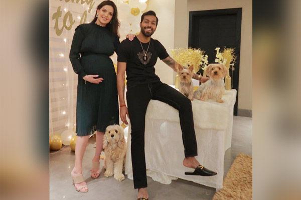 Natasa Stankovic baby shower pic goes viral Hardik Pandya poses with ladylove like never before