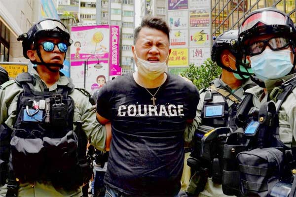 Hong Kong police made their first arrest under a new national security law