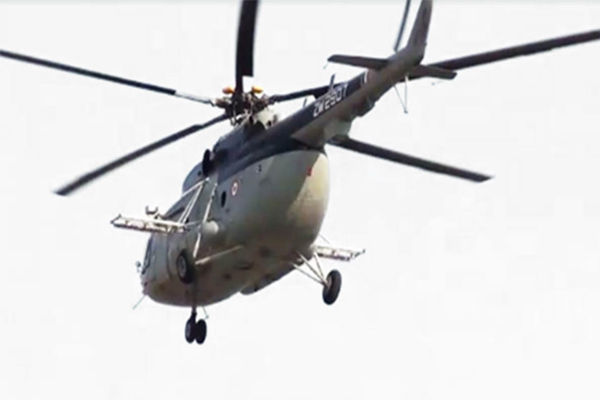 Indigenous airborne locust control system on Mi-17 helicopter