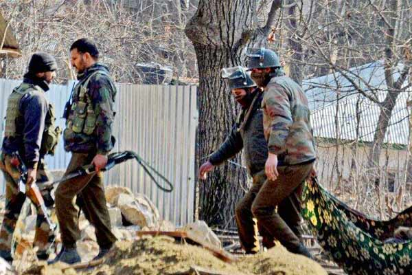 Encounter between terrorists and security forces in Anantnag