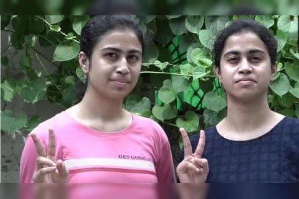 CBSE Class-12 results Noida's identical twins bag perfectly identical scores