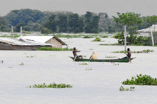 Flood in Assam over 70 lakh affected death toll 123