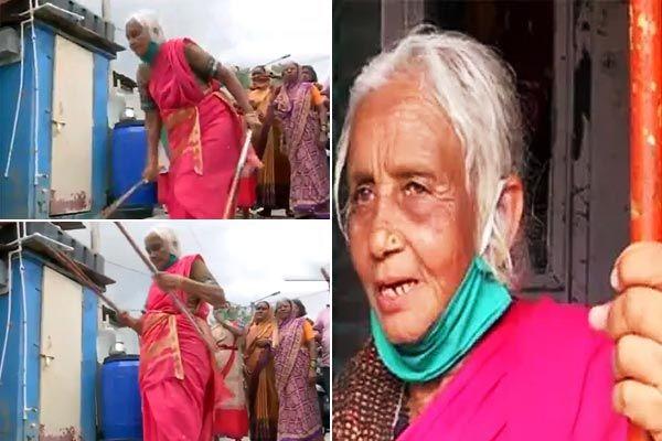 85-year-old Shantibai lathi-kathi game video goes viral