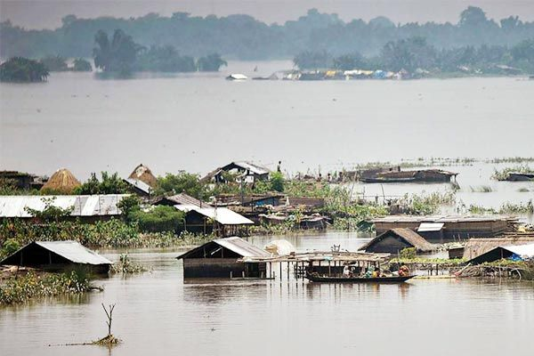 Over 56 lakh people affected by floods in Assam 109 dead