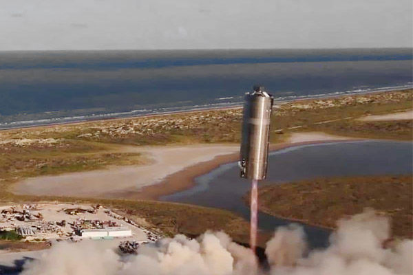 SpaceX Starship prototype flies, lands for the first time