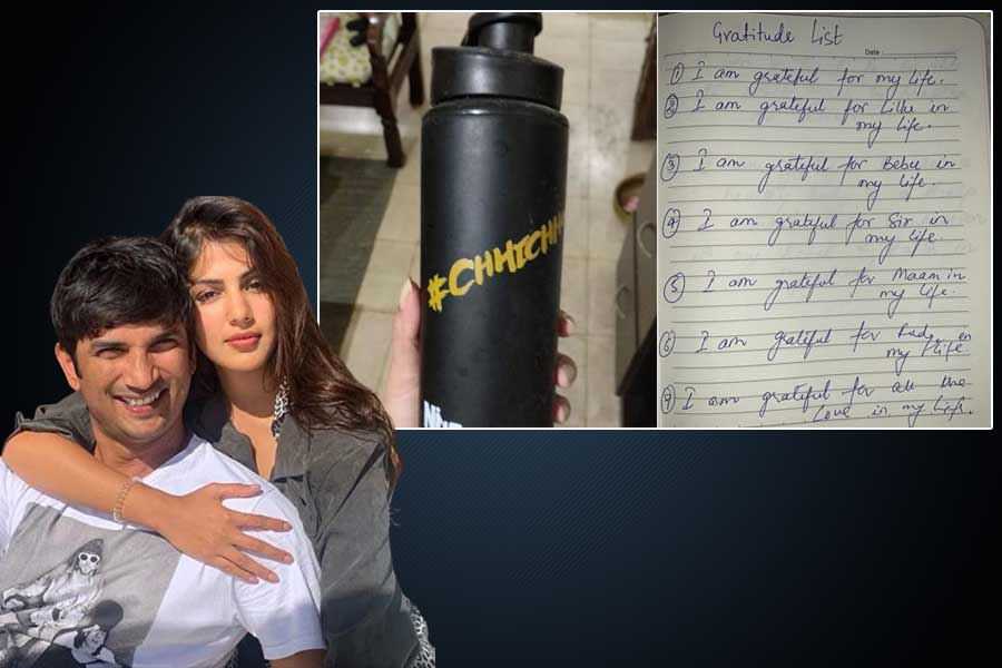 The only property I possess Rhea Chakraborty shares page from Sushant Singh Rajput written diary