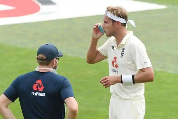 Why Stuart Broad called for an inhaler during the second Test against Pakistan